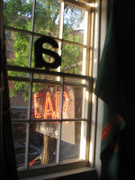Upstairs gallery space -view of Ear sign