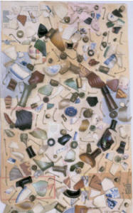 """James Brown Mandala"" (1979) by Sari Dienes, made from shards excavated in the cellar."